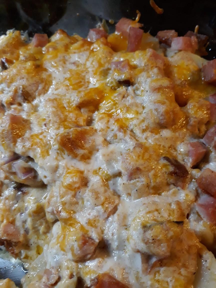 Ham and Au Gratin Potatoes Casserole TexasStyle