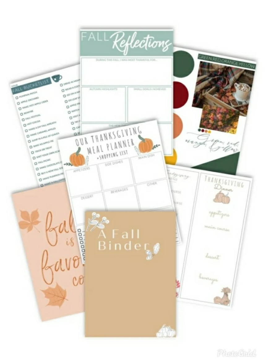 The Ultimate Fall Printouts For Your Planner
