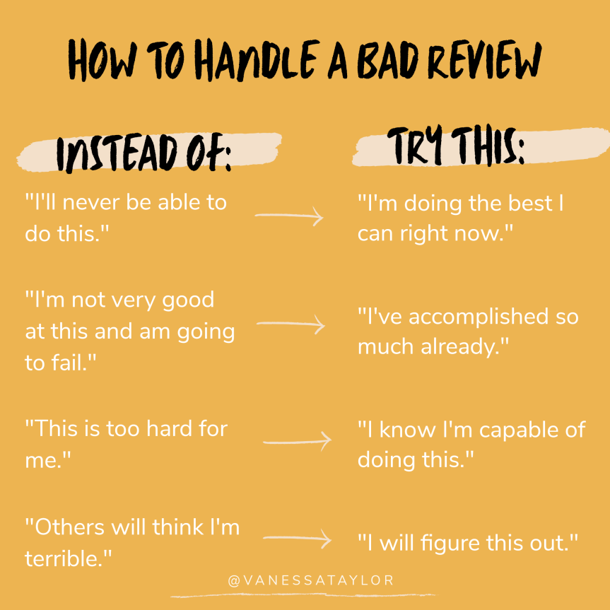 How To Handle a Bad Review.