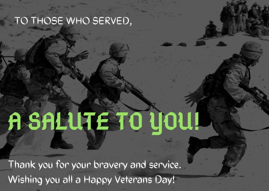 A Personal Thank You To Our Veterans!